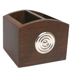 Porta lapiz espiral plata